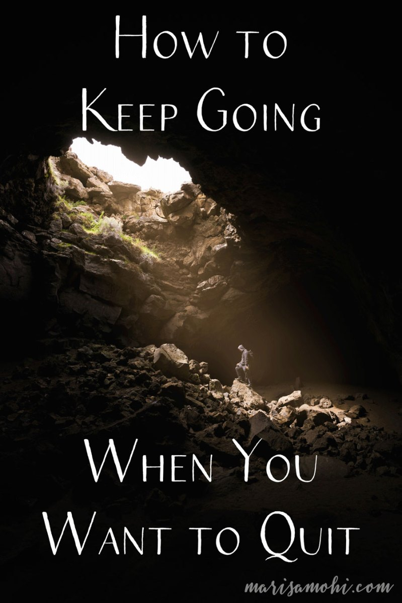 How to Keep Going When You Want to Quit | Burnt out? Wondering how to keep going when you want to quit? These are my five tips to keep you pushing on your journey to achieve what you want.