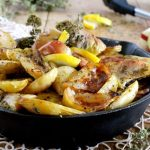 Roasted Fingerling Potatoes with Apples