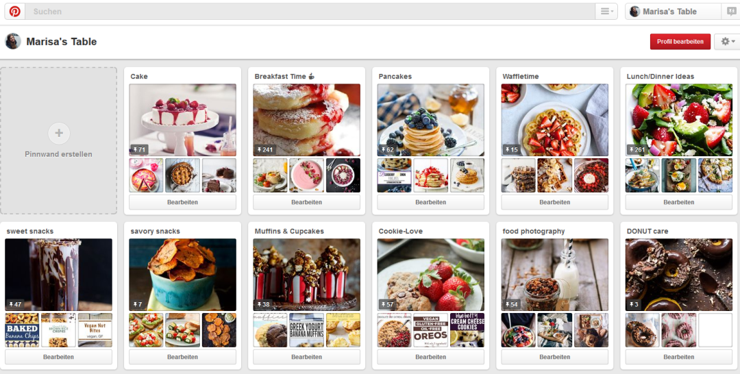 Pinterest Screenshot Marisa's Table
