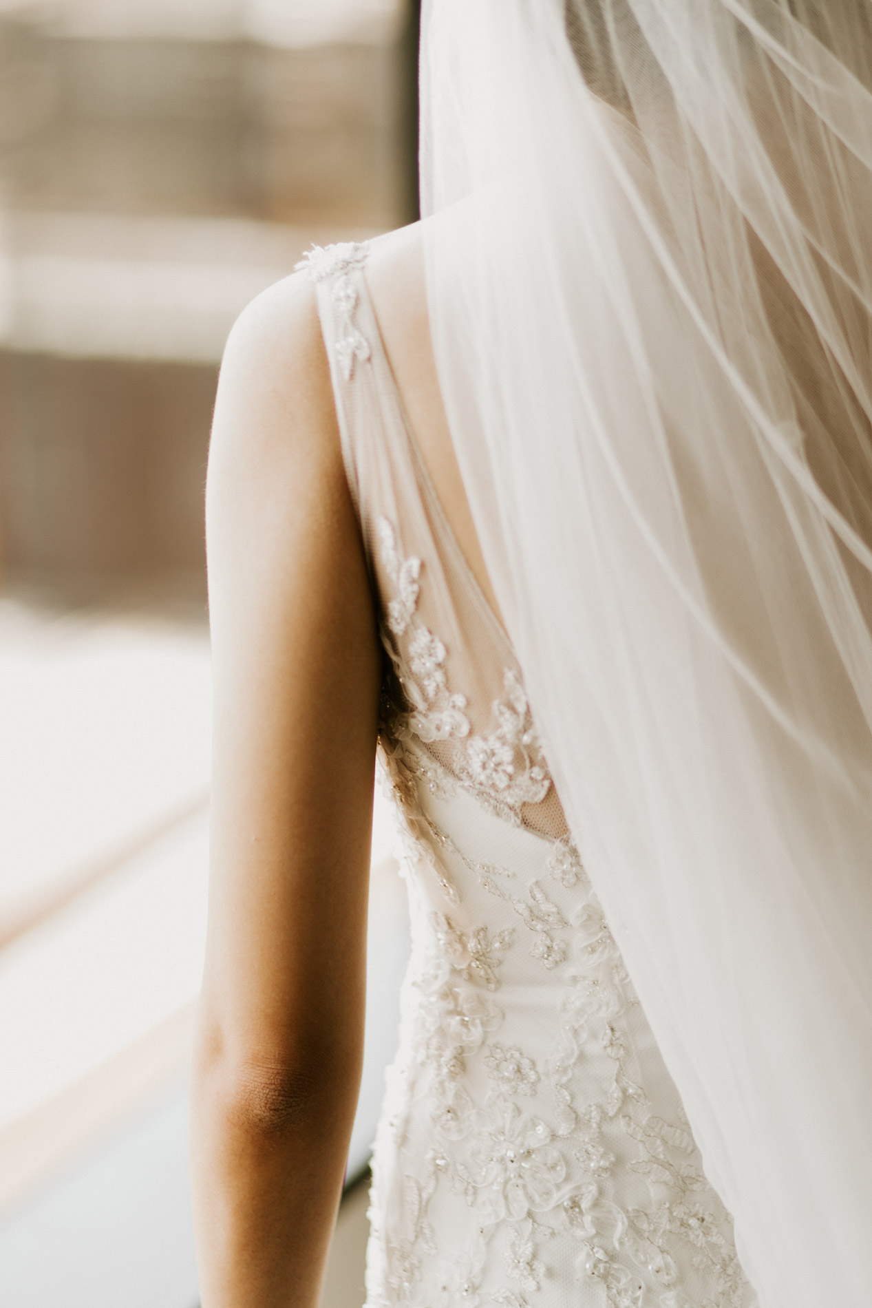 wedding dress detail shot