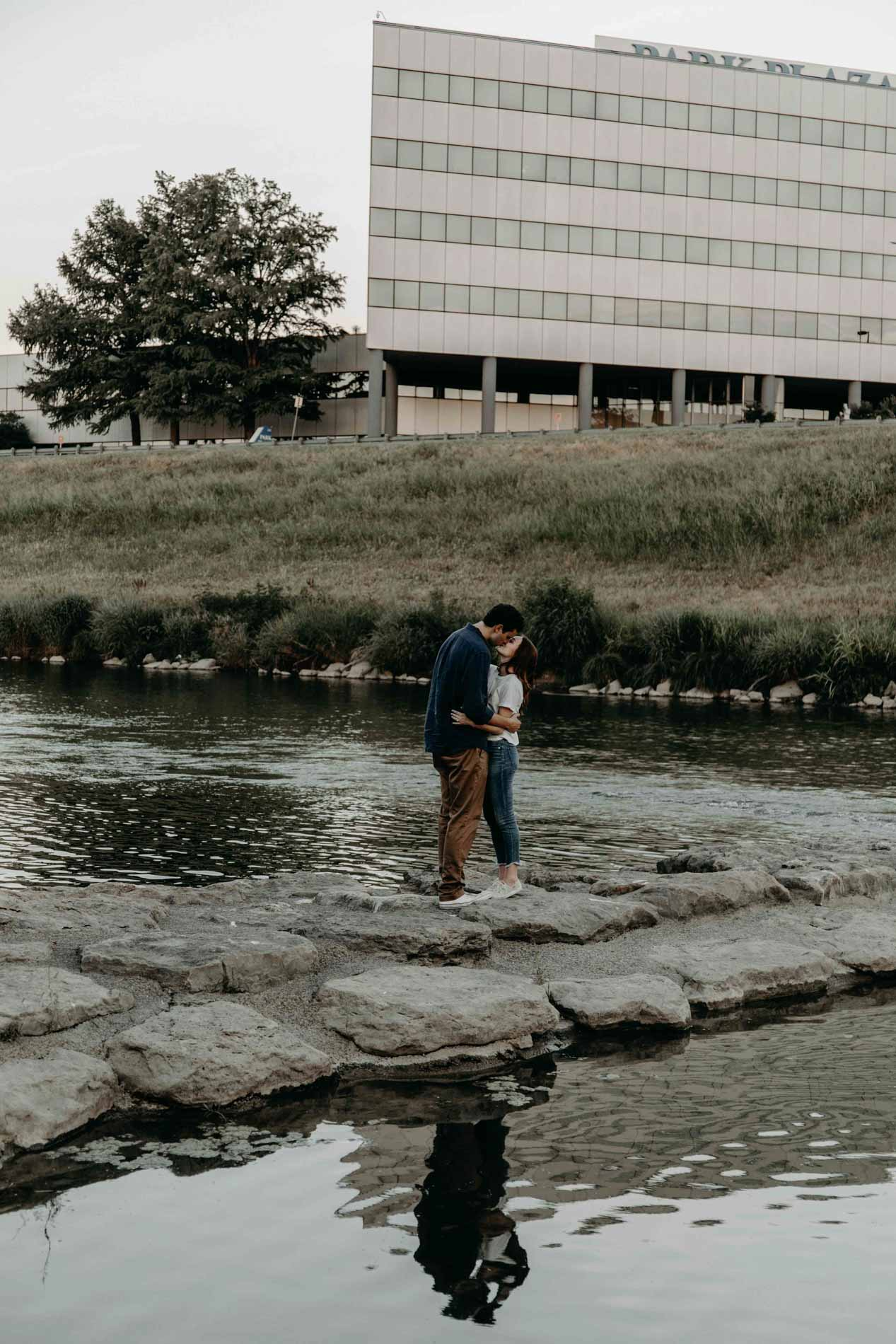 trinity river Fort Worth engagement photograph
