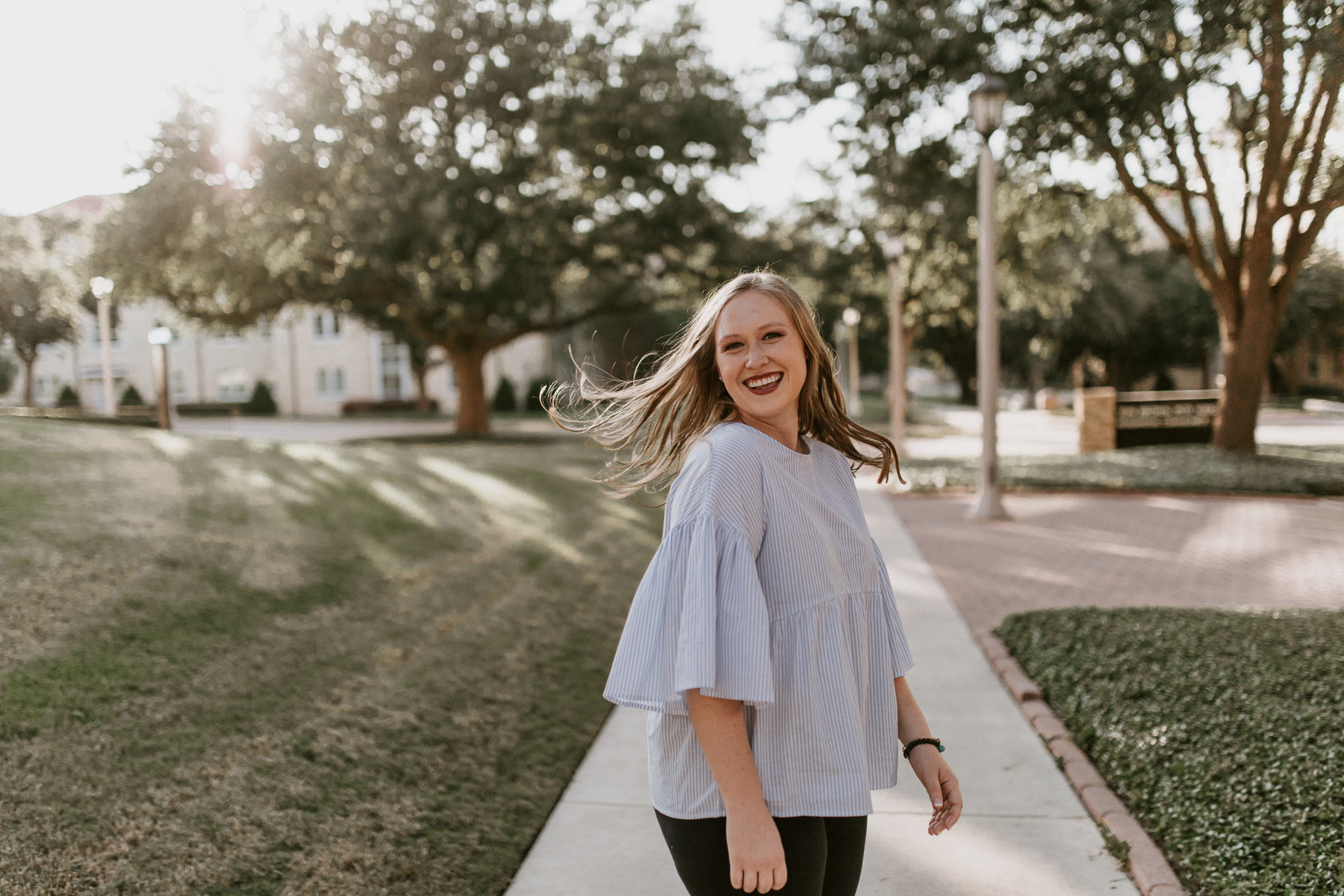 senior photography session at texas Christian university