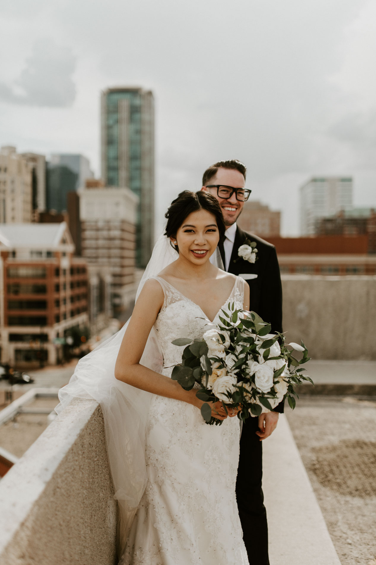 rooftop wedding photography Fort Worth