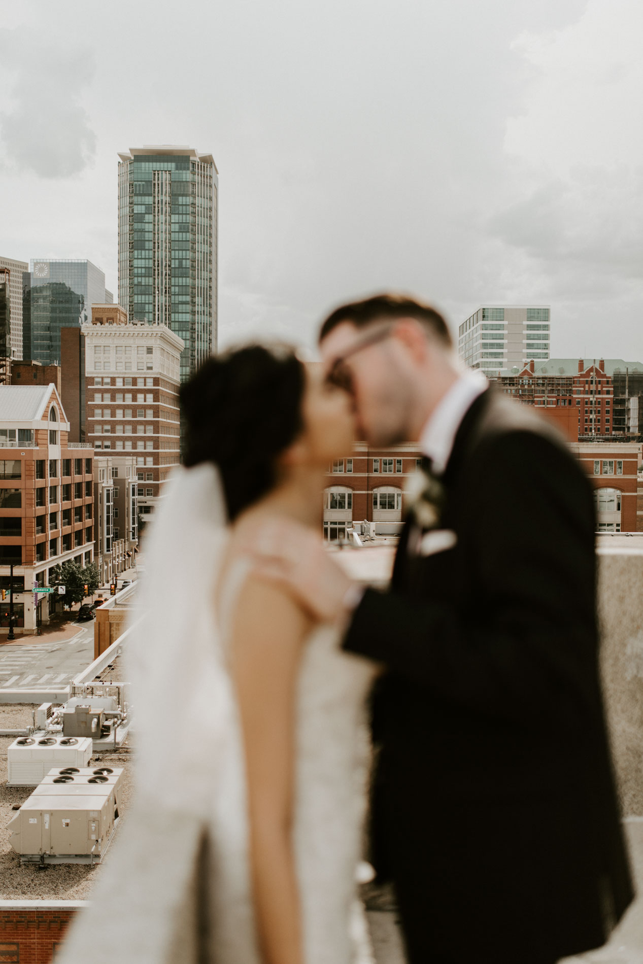 dreamy rooftop wedding photographer DFW Texas