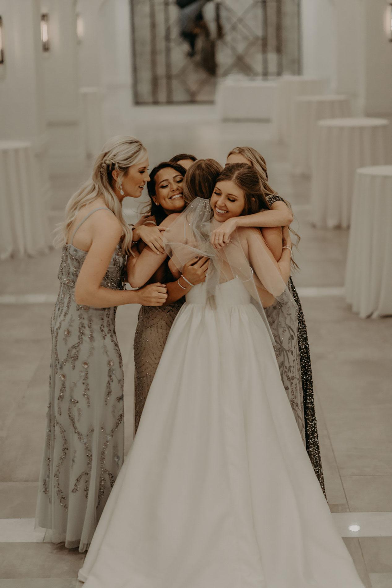 bridesmaids first look in dallas texas