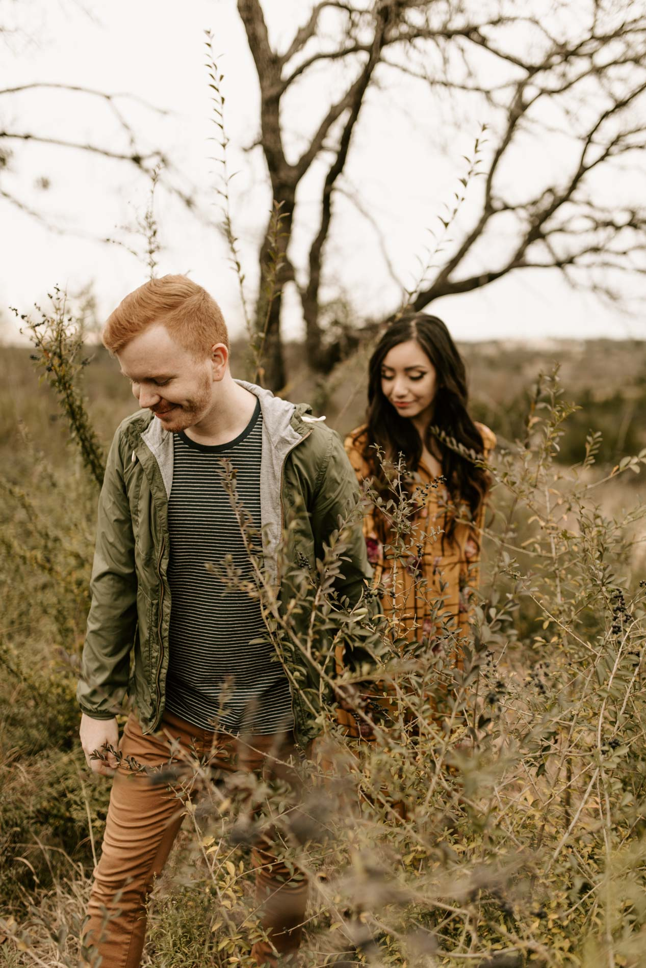 adventurous couple engagement photos in Fort Worth