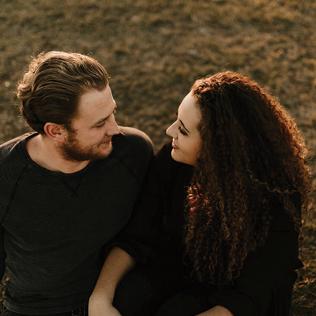DFW wedding photographer in Fort Worth Texas taking engagement photos