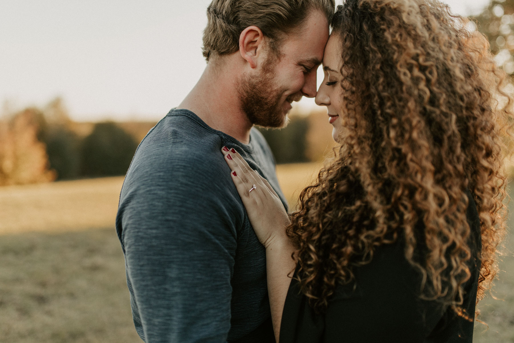 the cutest engaged couples session in east Texas