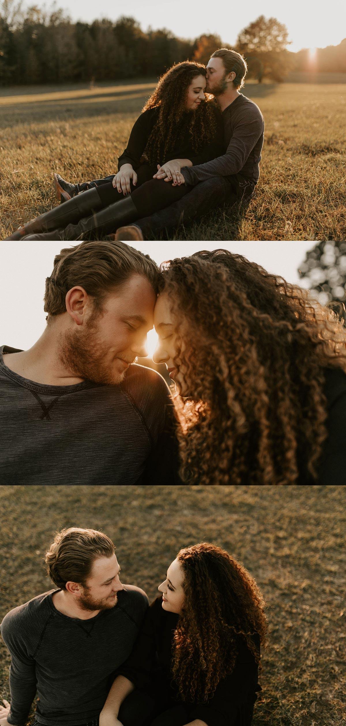 adorable intimate engagement session in east Texas