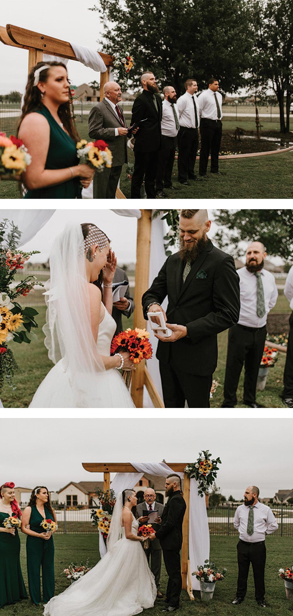 The coolest backyard elopement for an alternative couple