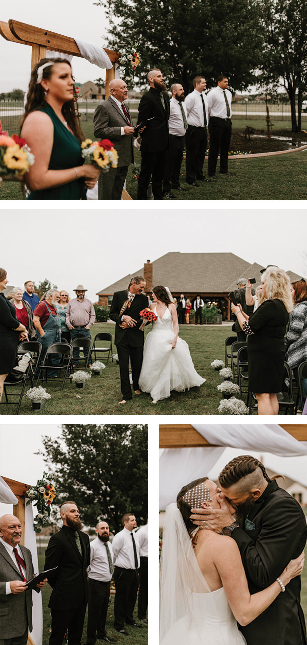 unique backyard wedding for alternative couple in Fort Worth