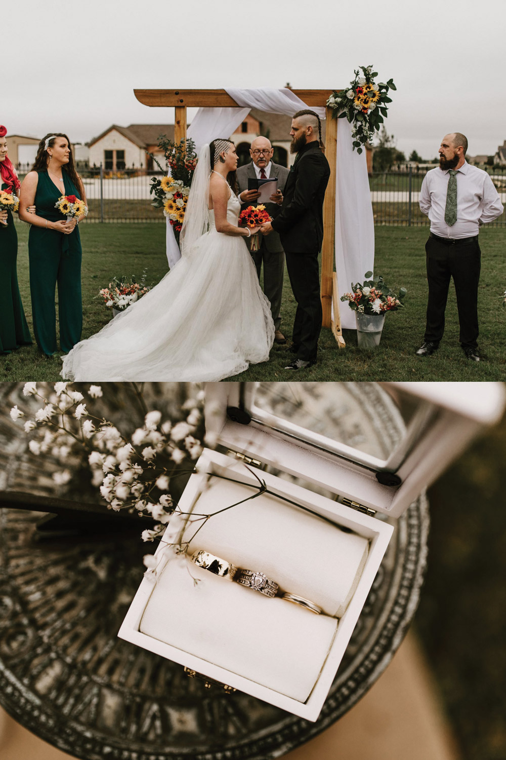 sweet little details to the coolest edgy backyard elopement