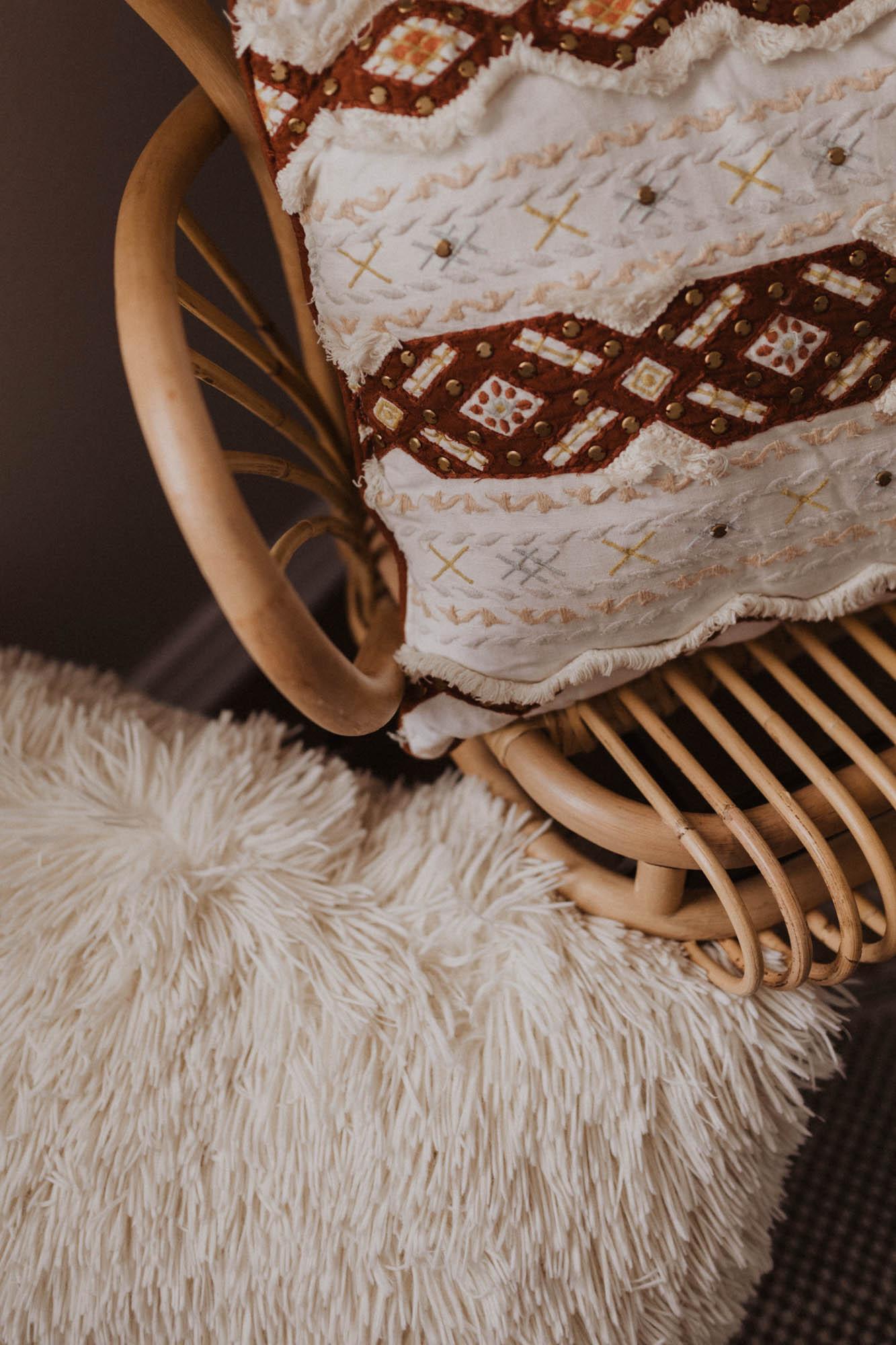 fun and bohemian pillows for decor