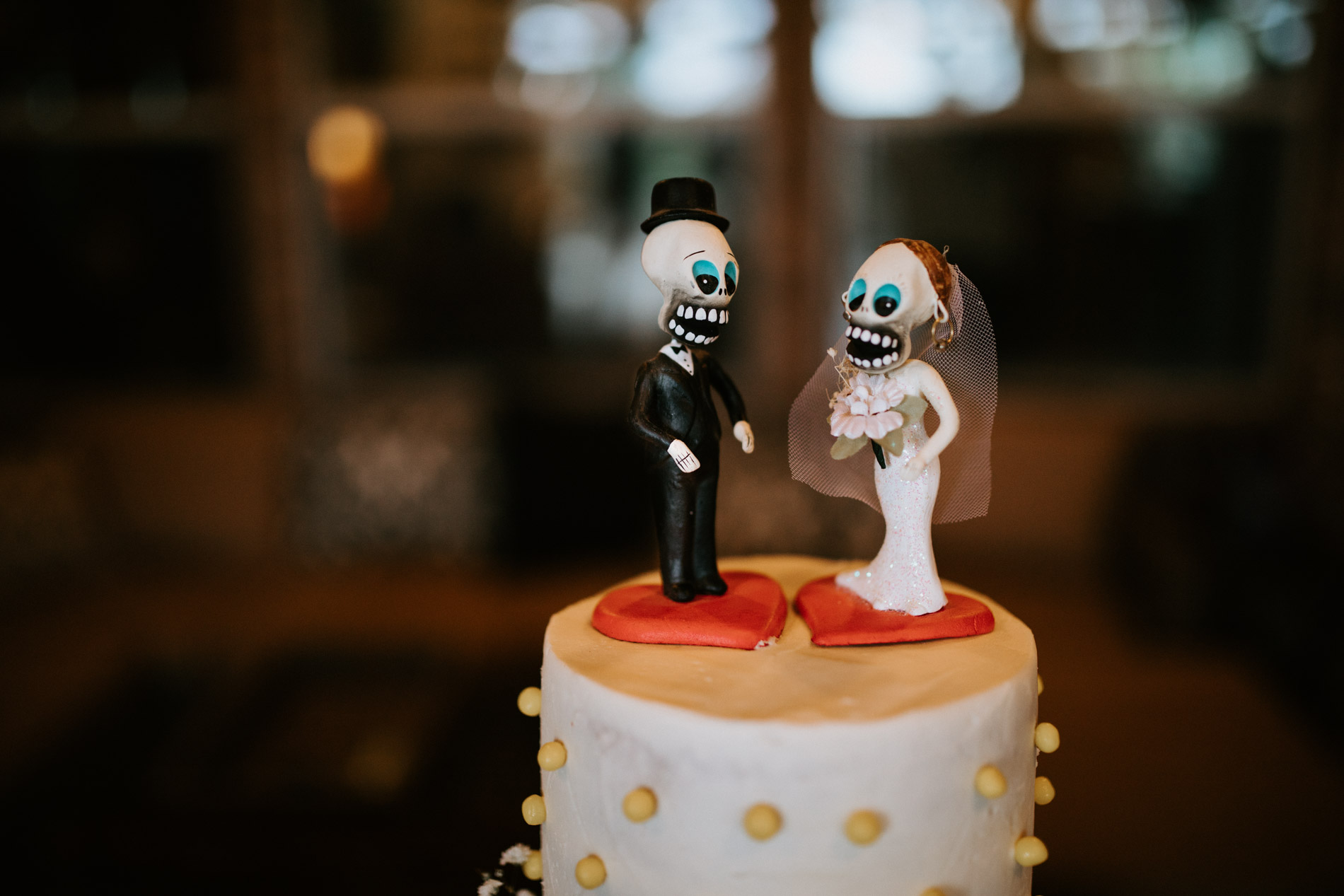 Gothic wedding cake topper