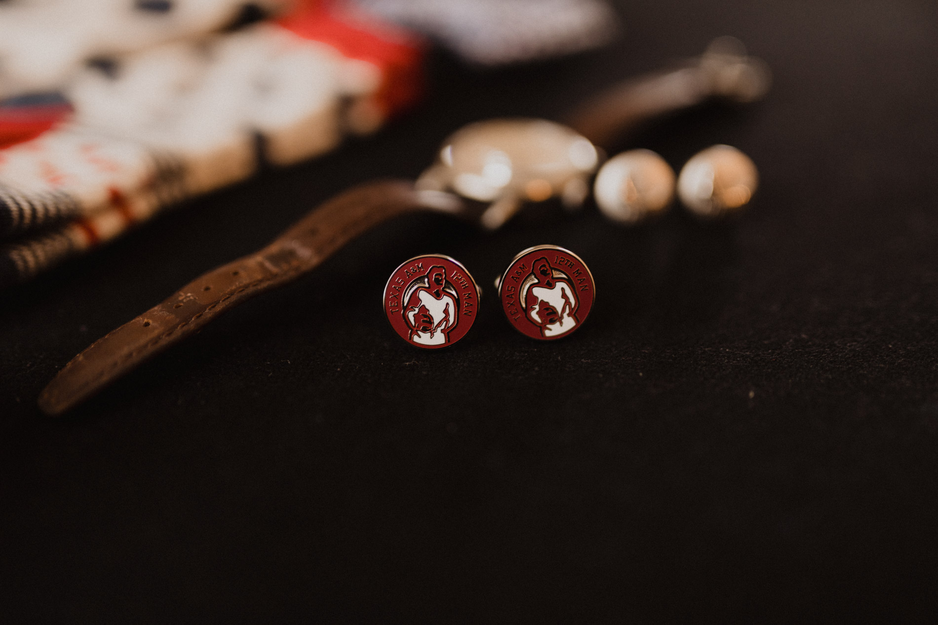 groom's a&m cufflinks