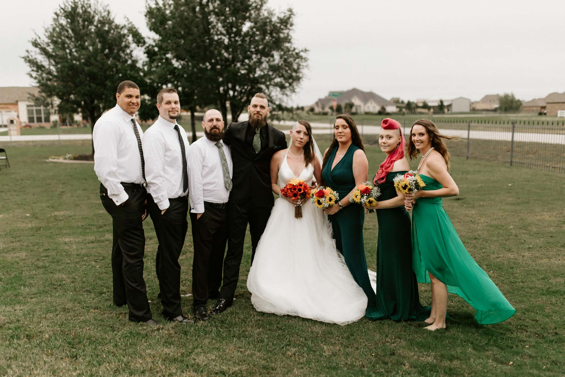 alternative colorful bridal party