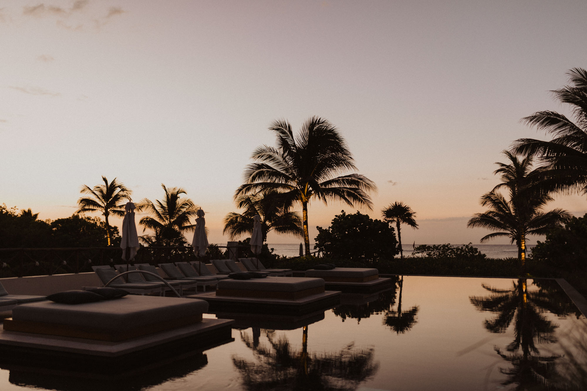 sunrise over unico 2087 in Mexico
