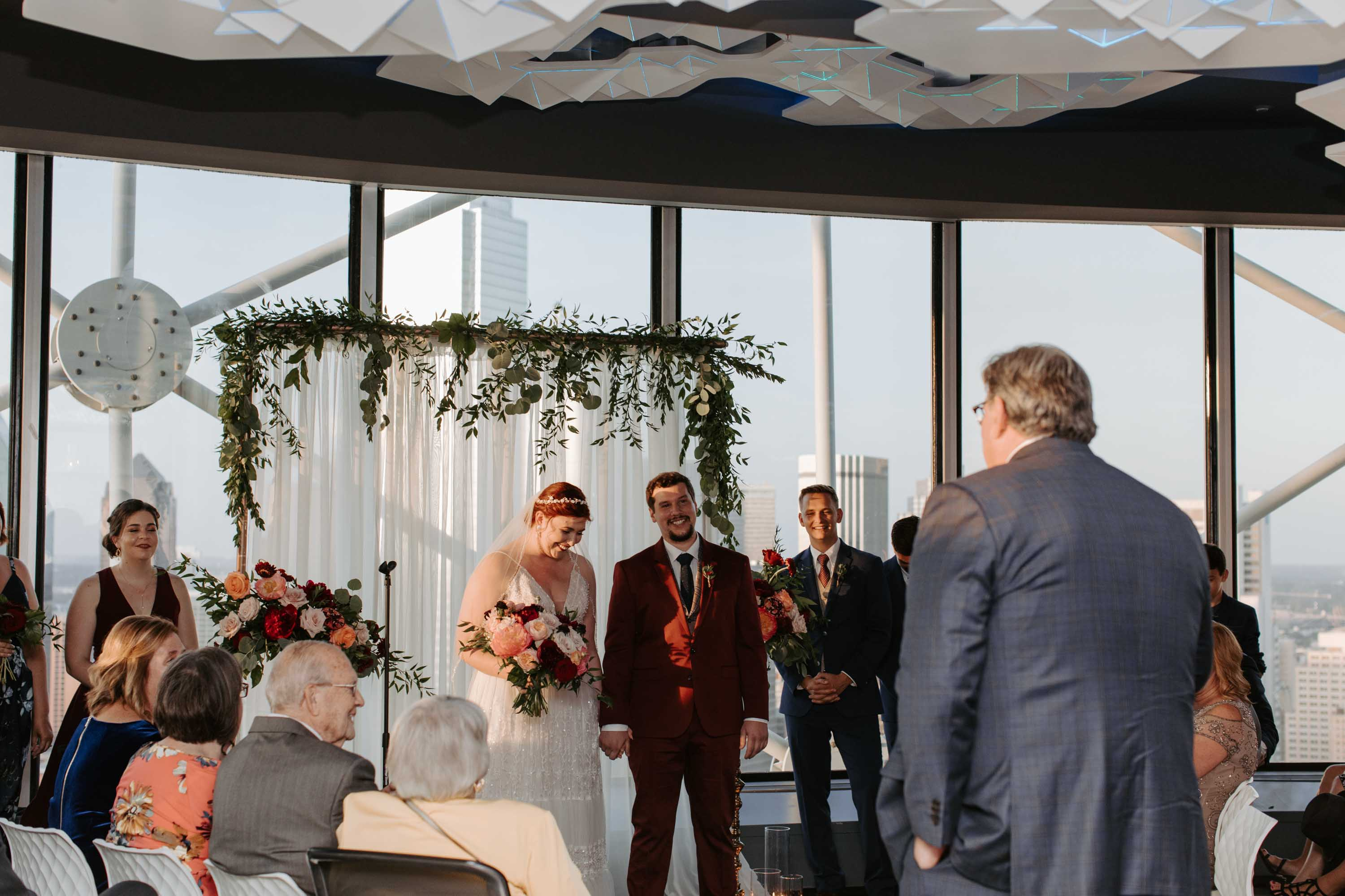 Romantic wedding ceremony in Dallas Texas