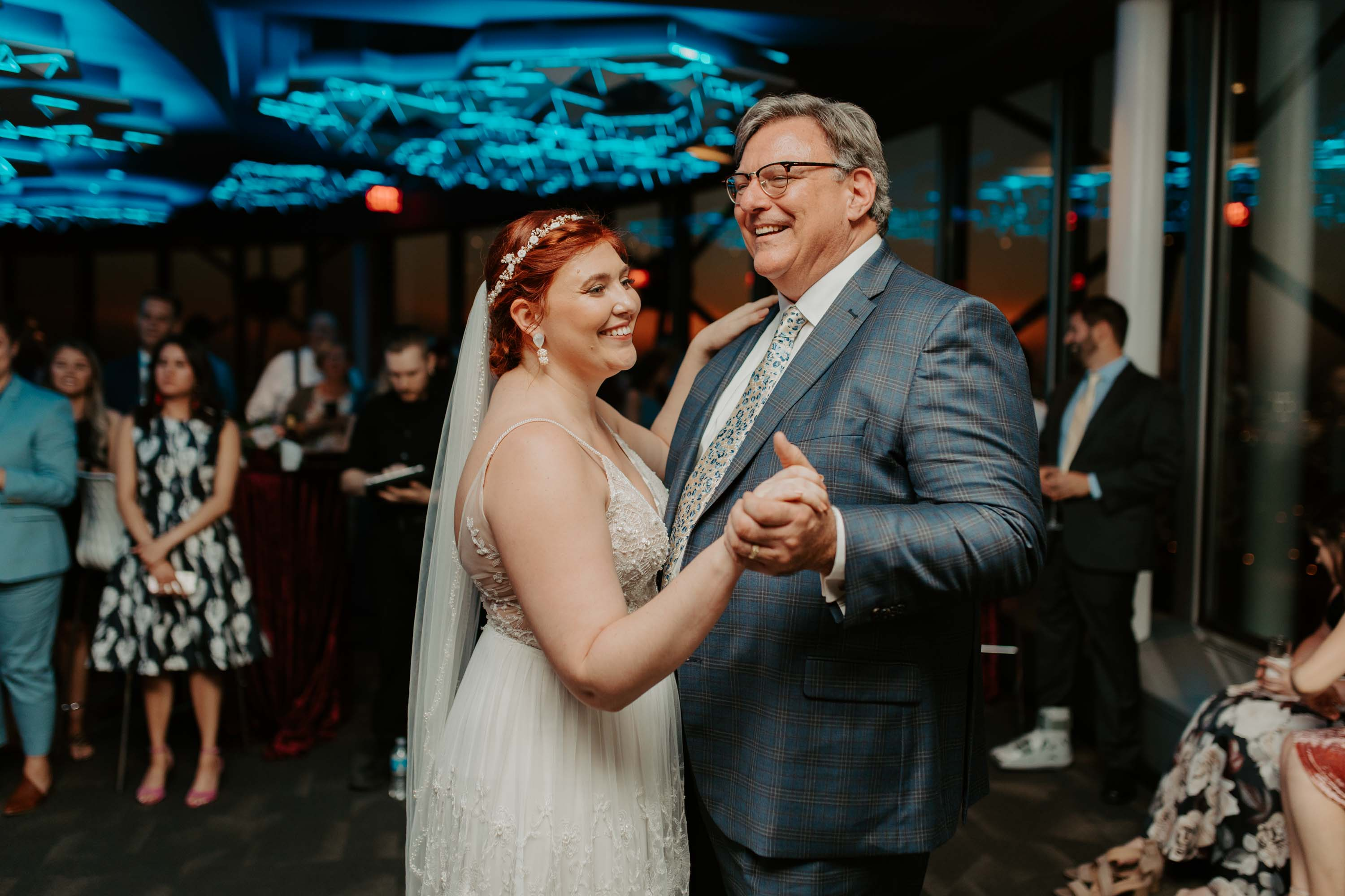 Father daughter dance at wedding ceremony in Dallas texas