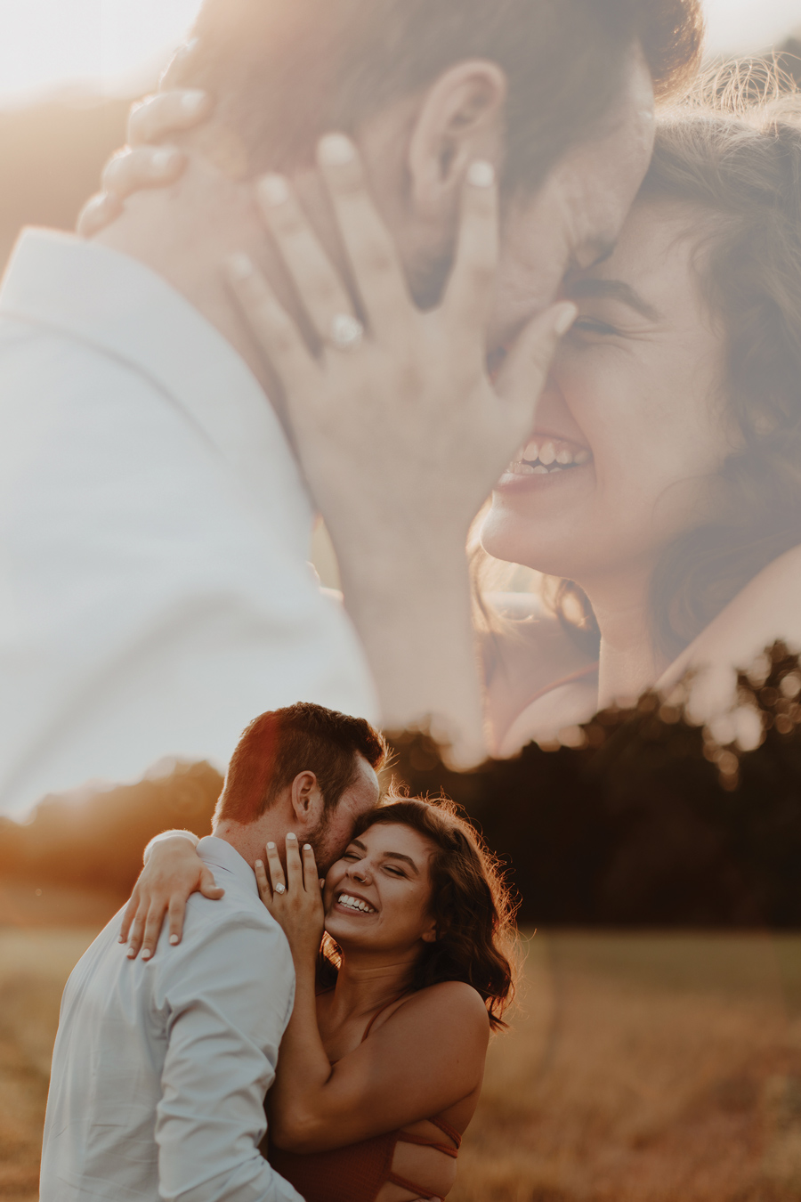 photo of engaged couple for Pinterest