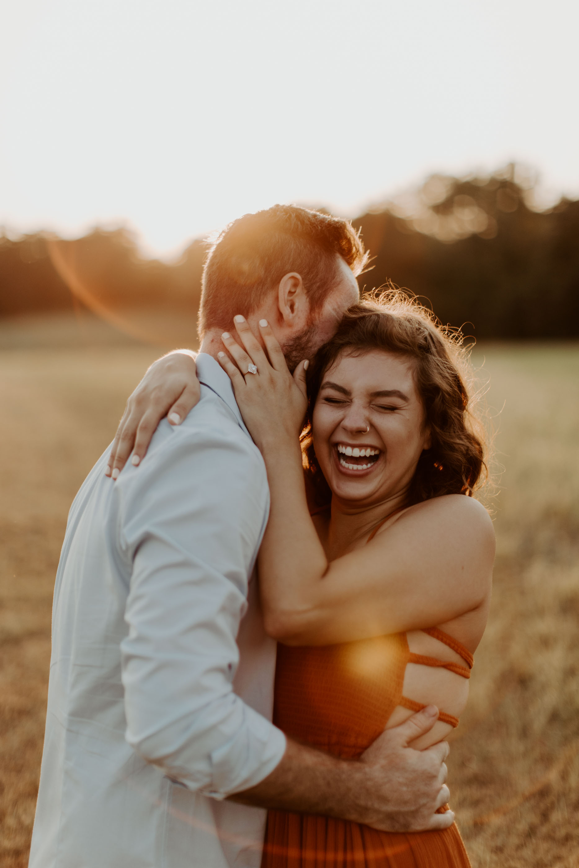 Marissa Merrill photography engagement photo of couple at golden hour