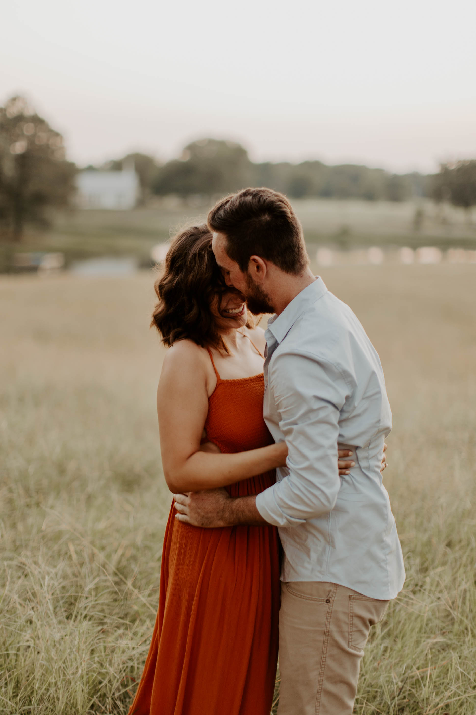 example of romantic engagement photos