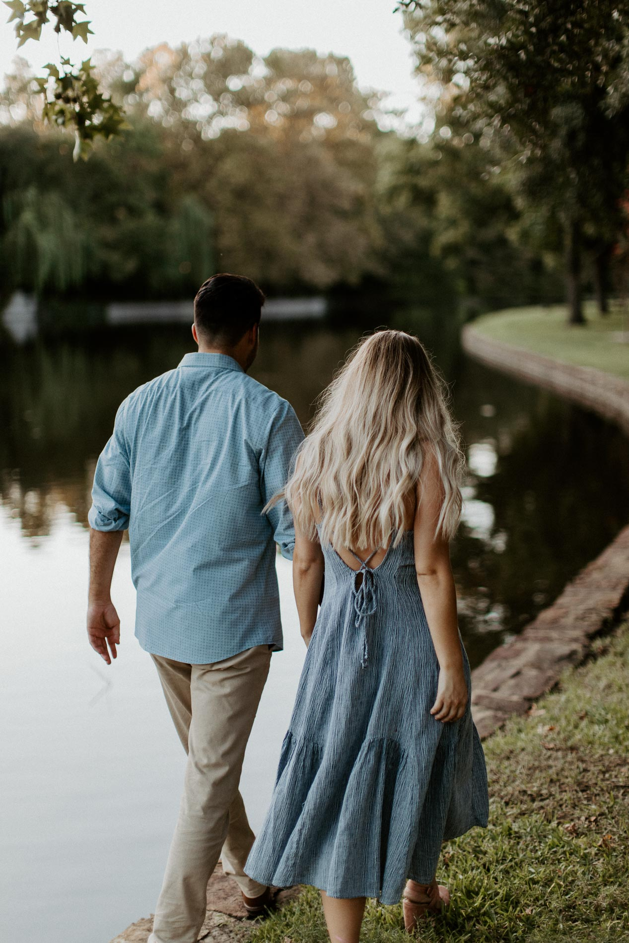 Engagement session location was beautiful as couple was talking