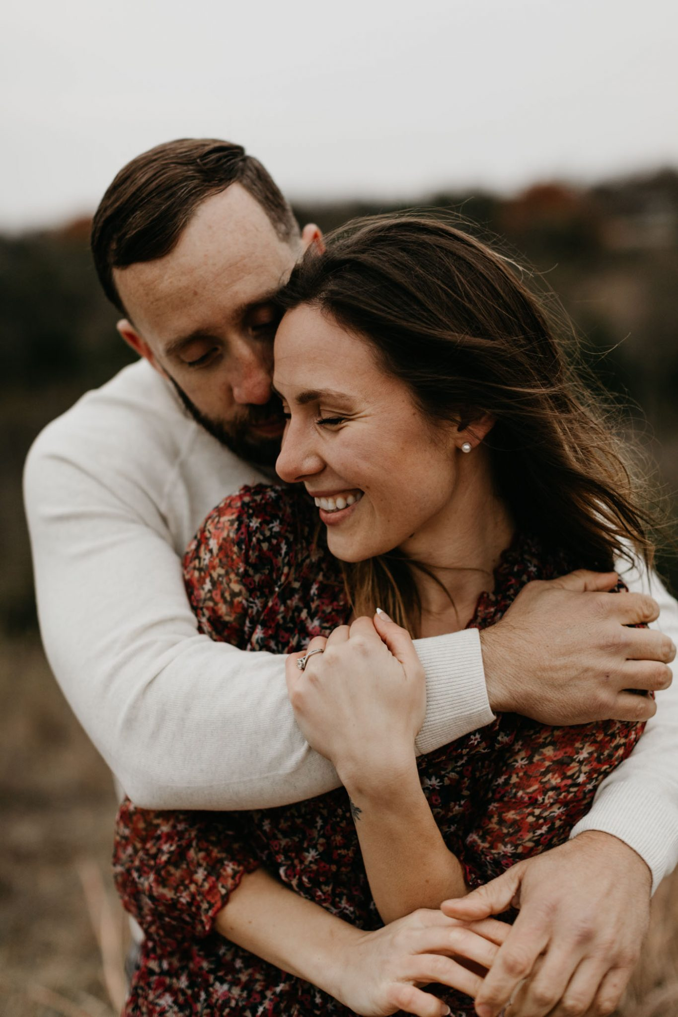 Romantic photo taken by Fort Worth adventure couples photographer