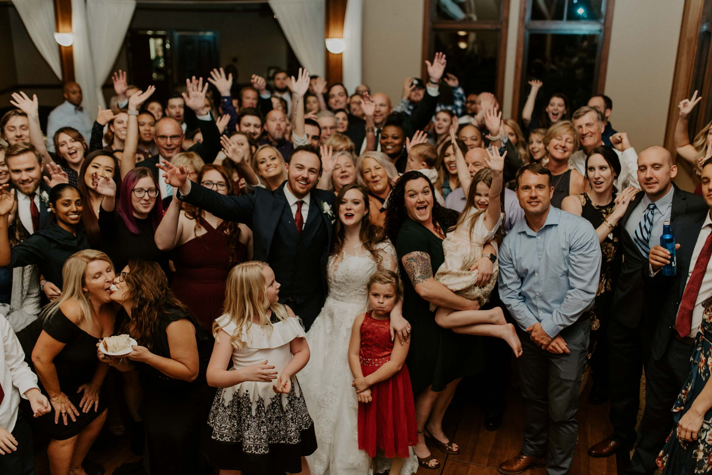 photo of all wedding guests