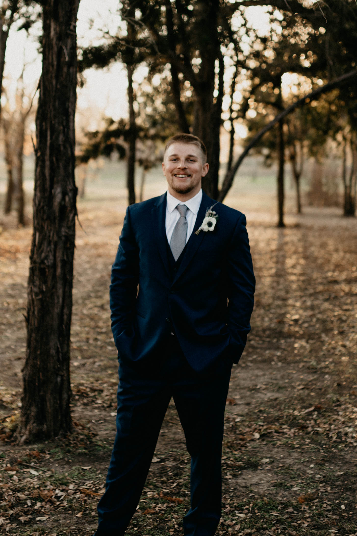 Portrait of groom on wedding day
