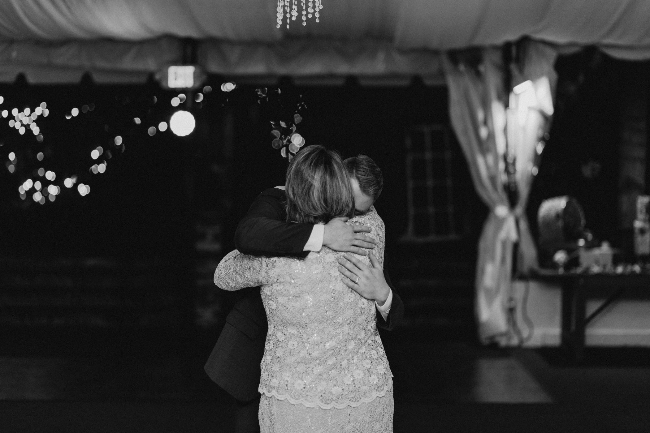 Groom dancing with his mom on his wedding day