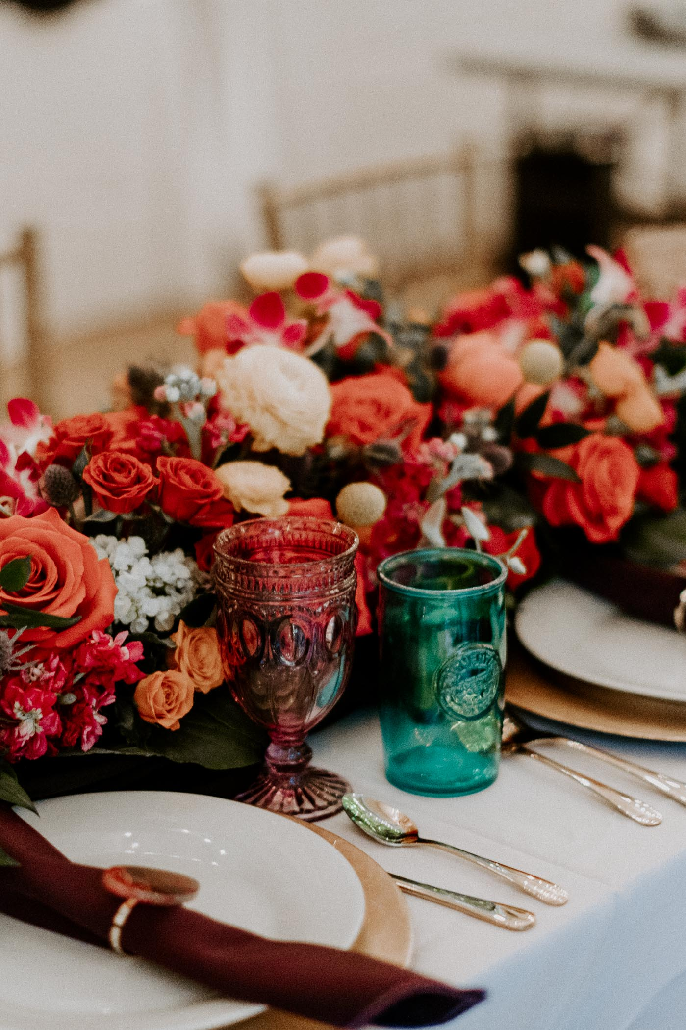 colorful wedding day decor