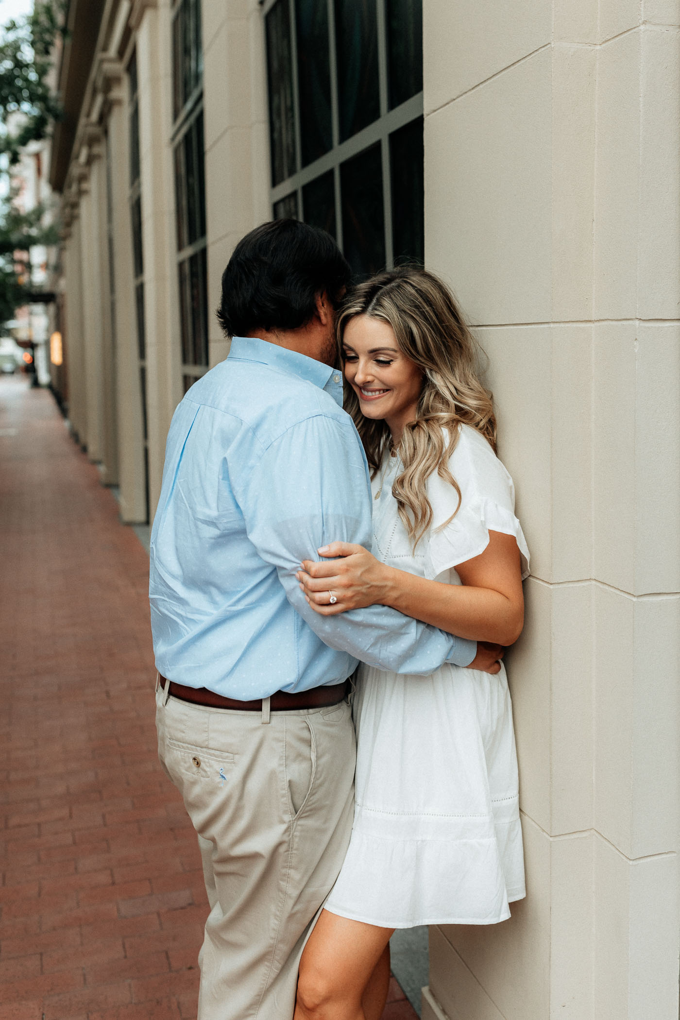 Sundance square venue engagement photos in Fort Worth