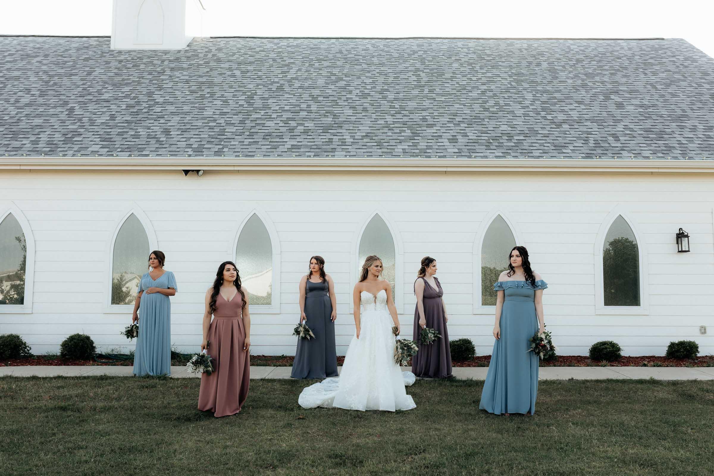 moody bridesmaid portrait dfw wedding