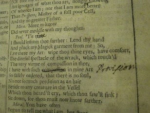 PR2751 .A4 1685, HON SPCL PHIL 1 - Hand 2 (Tempest)
