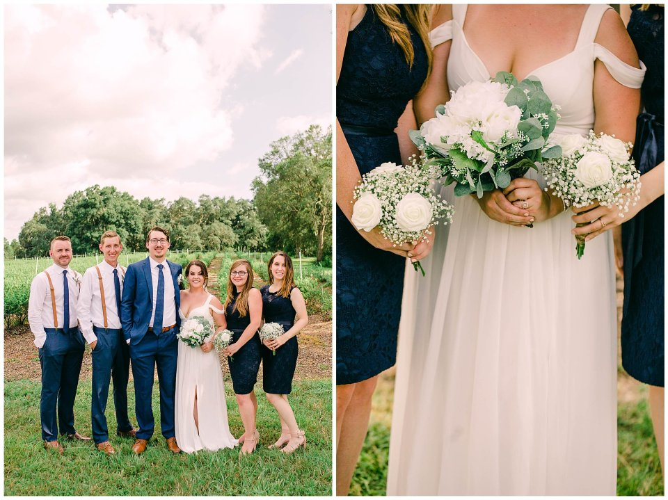 navy blue bridal party at Cavallo