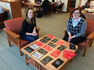Konchan & Lewis in Library -- Marist Poetry Project