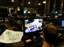Students playing a game on the Xbox One