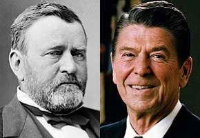 Ulysses S. Grant and Ronald Reagan