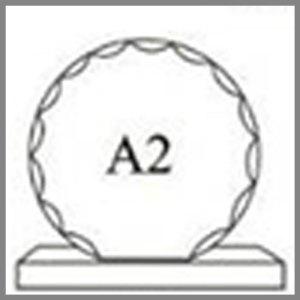 แบบโล่ห์อะคริลิก A2