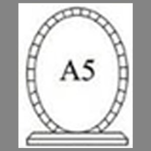 แบบโล่ห์อะคริลิก A5