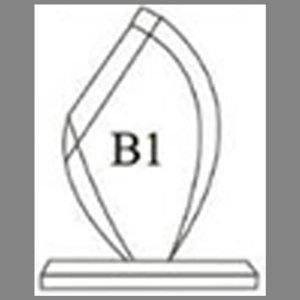 แบบโล่ห์อะคริลิก B1