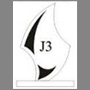 แบบโล่ห์อะคริลิก J3