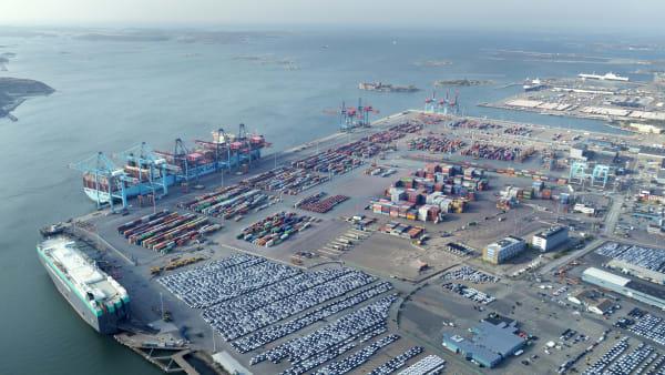Stor svensk havn melder om øgede fragtmængder