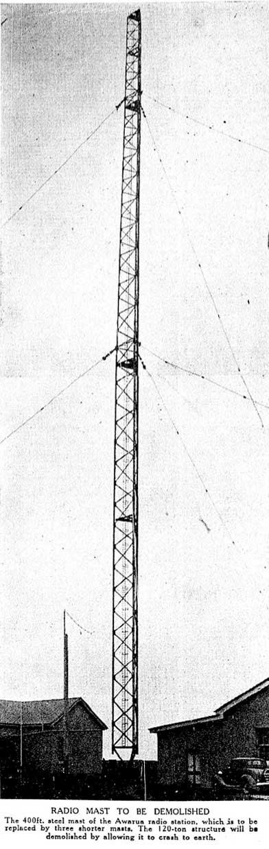 Awarua Radio 400ft mast to be demolished