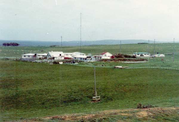 Undated photo of Chatham Islands Radio, possibly 1985-1987.