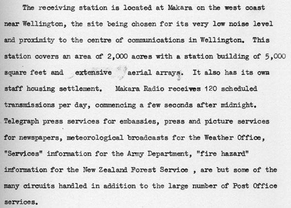 1960 description of Makara Radio