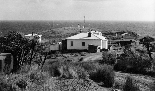Radio masts at Puysegur Point lighthouse