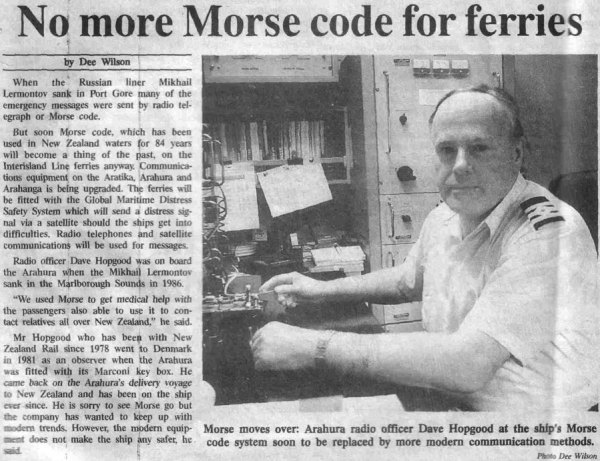 NZ ferries abandon morse code