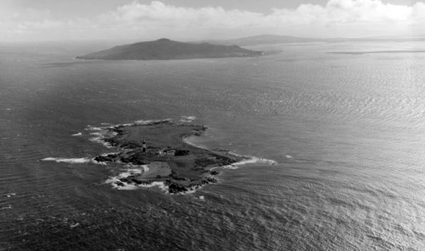 Dog Island with Bluff in the distance, May 1955